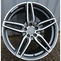 4Racing M033 grey polished 19x8 5/112 ET43 66,6 BK5434 x4