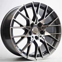 "4Racing Mars 18"" 5x120 72,6 anthracite polished"