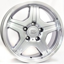 WSP Italy Matera 18x9,5 5x130 ET50 84,1 silver polished lip