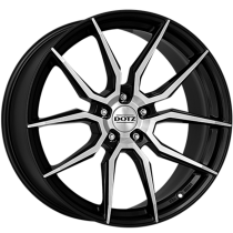 Dotz Misano dark 19x8 black polished
