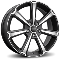 Momo Legend 18x7,5 matt black polished
