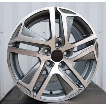R Line PP534 grey polished 17x7 5x108 ET46 65,1