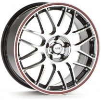 Platin PL61 17x8 black polished/red