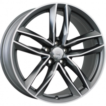 WSP Italy Penelope 20x9 matt gun metal polished