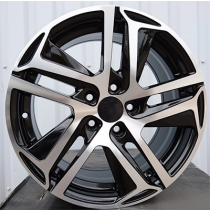 R Line PEPG534 black polished 16x7 5x108 ET35 65.1