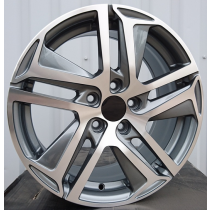R Line PEPG534 anthracite polished 16x7 5x108 ET47 65.1