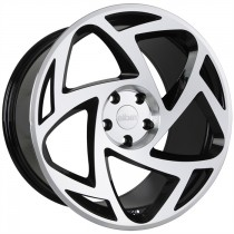 RADI8 R8S5 20x10 Black Polished