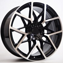"4Racing Raven 19"" 5x120 72,6 black polished"