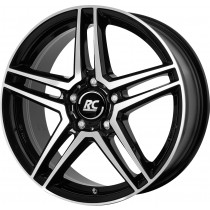 Brock RC17 17x7 5x112 black polished