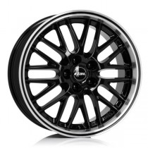 Rial Norano 17x8 black front polished