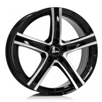 Rial Quinto 16x7 black front polished