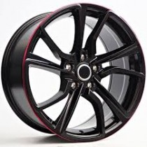 4Racing RK49 18x8,5 5x114,3 ET40 72,6 black/red