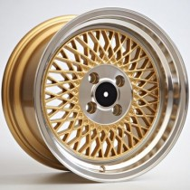 4Racing RK64 15x8 4x100 ET25 73,1 gold leap polished