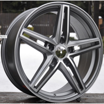 R Line RL43 anthracite polished 17x7 5x110 ET39 65.1