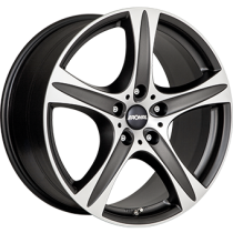 Ronal R55 SUV 17x7,5 matt black polished