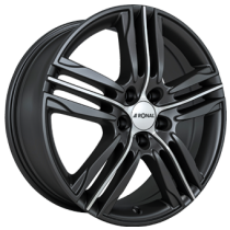 Ronal R57 17x7,5 matt black polished