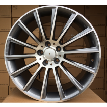 R Line M018 18x8,5 5x112 ET35 66,6 grey polished