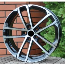 R Line SK512 black polished 17x7 5x112 ET45 57,1