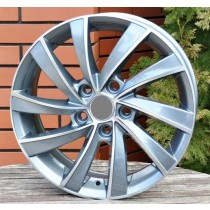 R Line SK523 grey polished 16x6,5 5x112 ET42 57,1