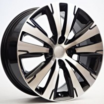 4Racing Solid 17x7,5 4x108 ET29 65,1 black polished