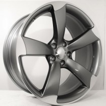 4Racing A006 19x8,5 5x112 ET35 66,45 BY939 grey polished TS