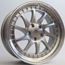 "Forzza Space 18"" 5x120 ET35 72,6 silver machined"