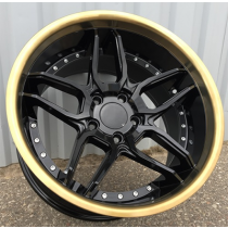 Racing Line SSA01 black gold lip 19x8.5 5x120 ET35 72.6