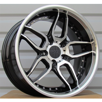 Racing Line SSA01 black polished 19x10 5x120 ET40 72.6
