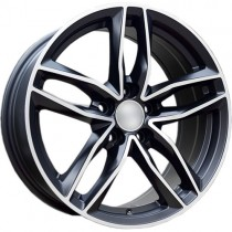 Carbonado Style 17x7,5 5x112 ET45 66,45 black matt polished