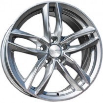 Carbonado Style 18x8 5x112 ET35 66,45 silver polished