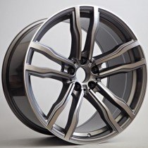 "4Racing Taran 20"" 5x120 grey polished"