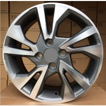 R Line TL0397NW grey polished 15x5,5 4x100 ET45 56,1