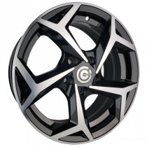 Carbonado Tropico 17x7,5 5x100 ET45 black polished