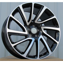 R Line TZ840 black polished 21x9.5 5x108 ET45 63.3