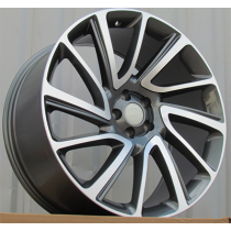 R Line TZ840 anthracite polished 21x9.5 5x108 ET45 63.3