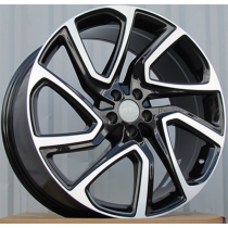 R Line TZ841 black polished 21x9.5 5x108 ET45 63.3