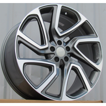 R Line TZ841 anthracite polished  21x9.5 5x120 ET45 72.6