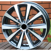 R LIne VW03 black polished 15x6