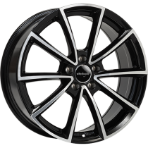 WheelWorld WH28 19x8 Black Polished