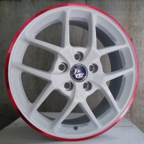 Racing Line RLX8 white/red line 16x6,5 5x108 ET50 63,4