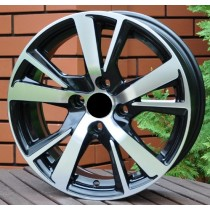 R Line PEXF081 black polished 15x6 4x108 ET23 65,1