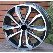 R Line SKXF083 black polished 16x6,5 5x112 ET46 57,1