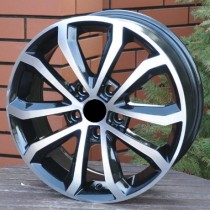 R Line SKXF083 black polished 18x7,5 5x112 ET51 57,1