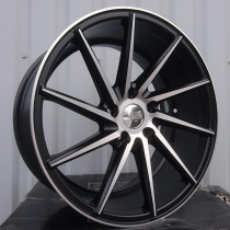 R Line VOXF096 black polished 20x10 5x112 ET40 73,1