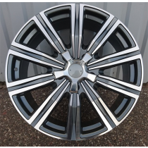 R Line XFC96 grey polished 22x9 5x150 ET60 110,1
