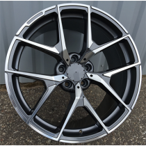 R Line XFE137 anthracite polished 20x9.5 5x112 ET35 66.56