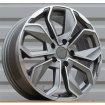 R Line XFE164 anthracite polished 17x7 4x100 ET44 60.1