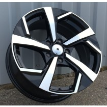R Line NIXFE173 black polished 16x6,5 5x114,3 ET40 66,1