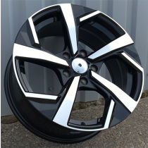 R Line XFE173 black polished 17x7.5 5x114.3 ET35 67.1