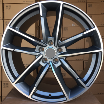 R Line AXFE81 anthracite polished 20x9 5x112 ET33 66,45